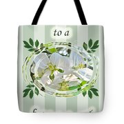 Bridal Shower Invitation - Apple Blossoms Tote Bag