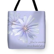 Bridal Shower Invitation - Chicory Wildflower Tote Bag
