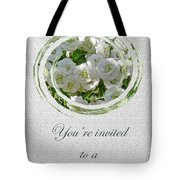 Bridal Shower Invitation - White Spirea Tote Bag
