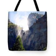 Bridalveil Falls In Yosemite Tote Bag