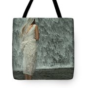 Bride Below Dam Tote Bag