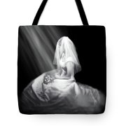 Bride In Cascading Light Tote Bag