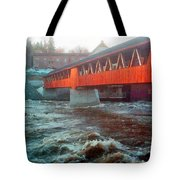 Bridge Across The Ammonoosuc River Tote Bag