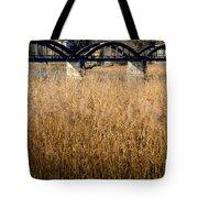Bridge And Pampas Grass Tote Bag