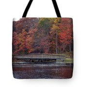 Bridge In Autumn Tote Bag