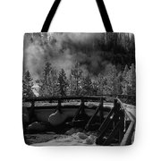 Bridge In Mud Volcano Area Tote Bag