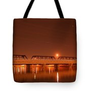 Bridge In The Mist Tote Bag