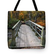 Bridge Into Autumn Tote Bag