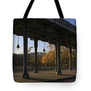 Bridge Of Bir Hakeim In Paris Tote Bag