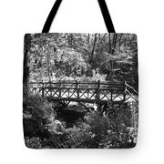 Bridge Of Centralpark In Black And White Tote Bag