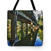 Bridge Over Ovens River Tote Bag by Kaye Menner