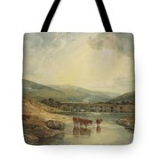 Bridge Over The Usk Tote Bag