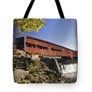 Bridgeton Covered Bridge - Fm000064 Tote Bag by Daniel Dempster