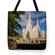 Brigham City Temple Stones Tote Bag
