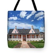 Brigham Young Forest Farm Home Tote Bag