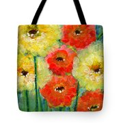 Bright Colored Flowers Shine Tote Bag
