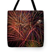 Bright Colorful Fireworks Tote Bag