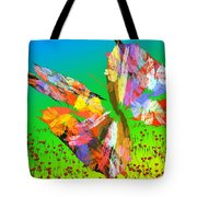 Bright Elusive Butterflys Of Love Tote Bag