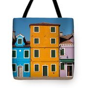 Brightly Painted Houses Of Burano Tote Bag