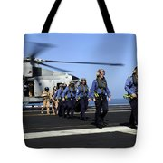 British Sailors Are Escorted Off An Tote Bag