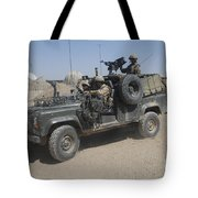 British Soldiers In Their Land Rover Tote Bag