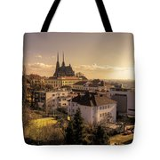 Brno Skyline  Tote Bag