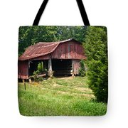 Broad Roofed Barn Tote Bag by Douglas Barnett