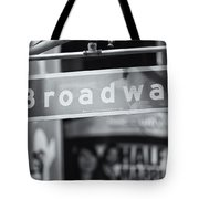 Broadway Street Sign II Tote Bag