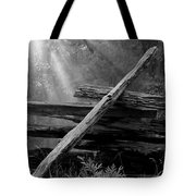 Broken Fence In Morning Light At Yosemite Tote Bag