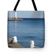 Bronte Lighthouse Gulls Tote Bag