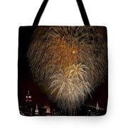 Brooklyn Bridge Celebrates Tote Bag by Susan Candelario