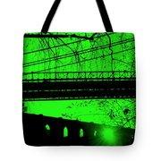 Brooklyn Bridge In Green Tote Bag