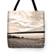 Brooklyn Bridge In Sepia Tote Bag