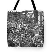 Brooklyn Bridge Panic 1883 Tote Bag