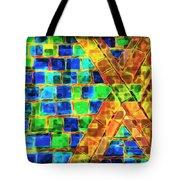 Brooklyn Tile Abstract Tote Bag