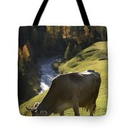 Brown Cow Alps Tote Bag
