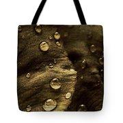Brown Drops Of Rain Tote Bag