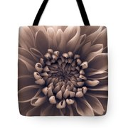 Brown Flower Tote Bag