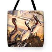 Brown Pelican - Holding Things Together Tote Bag