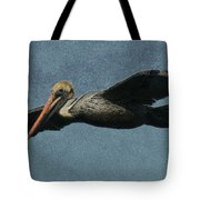 Brown Pelican Painterly Tote Bag
