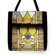 Brown Stained Glass Window Tote Bag