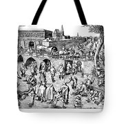 Bruegel: Ice Skaters Tote Bag