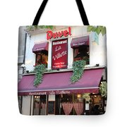Brussels - Restaurant La Villette With Trees Tote Bag by Carol Groenen