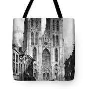 Brussels: Cathedral, 1838 Tote Bag