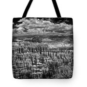 Bryce Canyon - Black And White Tote Bag