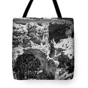 Bryce Canyon Arch - Black And White Tote Bag