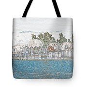 Bubble House In Pencil Skech Tote Bag