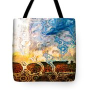 Bubble Landscape Abstract Tote Bag
