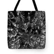 Bubble Towers Trapped In Ice Macro Image Tote Bag