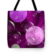 Bubbles And Moons - Purple Abstract Tote Bag
